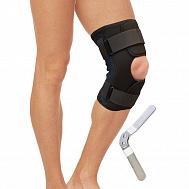 Бандаж на коленный сустав разъемный с металлическими шарнирами T-8518.